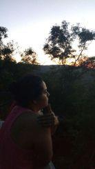 El amanecer desde la terraza